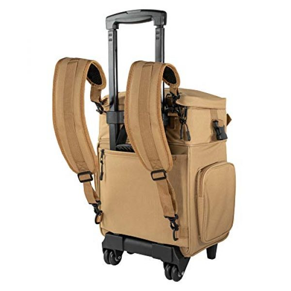 """Calissa Offshore Tackle Tactical Backpack 4 Calissa Offshore Tackle Backpack -""""Apollo 2"""" Tactical Rolling Pistol Case Gun Range Bag for Shooting Gear, Ammo, Hunting Supplies, Firearms Storage, Fishing Equipment """" 5 Pouch Compartment Organizer"""