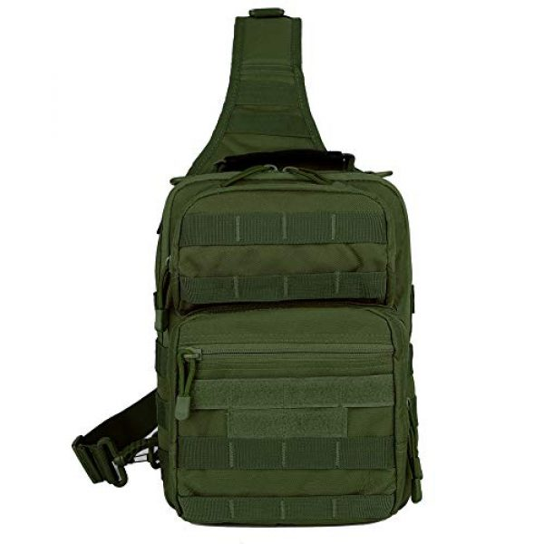 QT&QY Tactical Backpack 2 QT&QY Tactical Sling Bag for Men Small Military Rover Shoulder Backpack EDC Chest Pack Molle Assault Range Bag