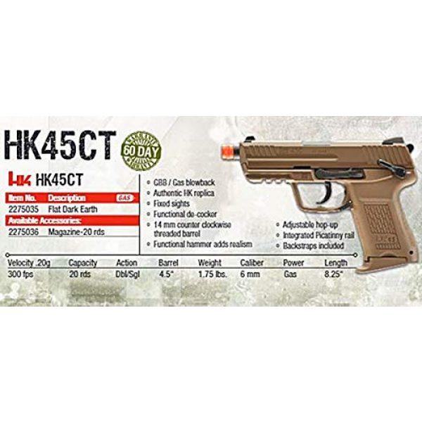 Elite Force Airsoft Pistol 5 Elite Force HK Heckler & Koch HK45 GBB Blowback 6mm BB Pistol Airsoft Gun, FDE