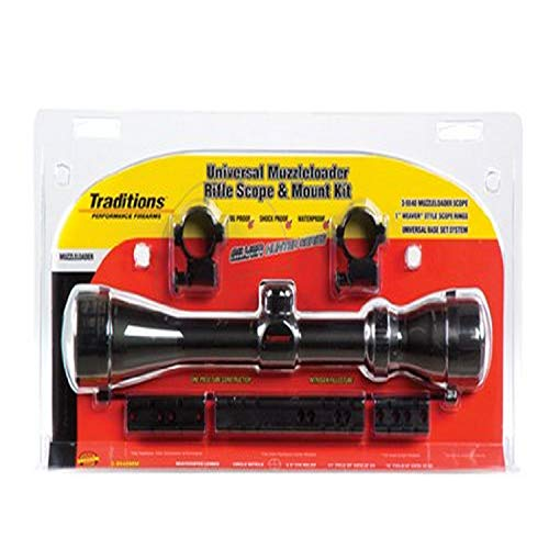 Traditions Rifle Scope 1 Traditions Performance Firearms Small Game Hunter Scope Package - 4x32 Matte Range Finding Scope and Rings