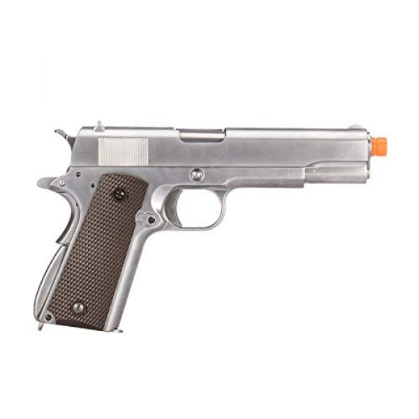 WE Airsoft Pistol 2 WE Tech M1911 Metal GBB Airsoft Pistol CO2 Version Chrome