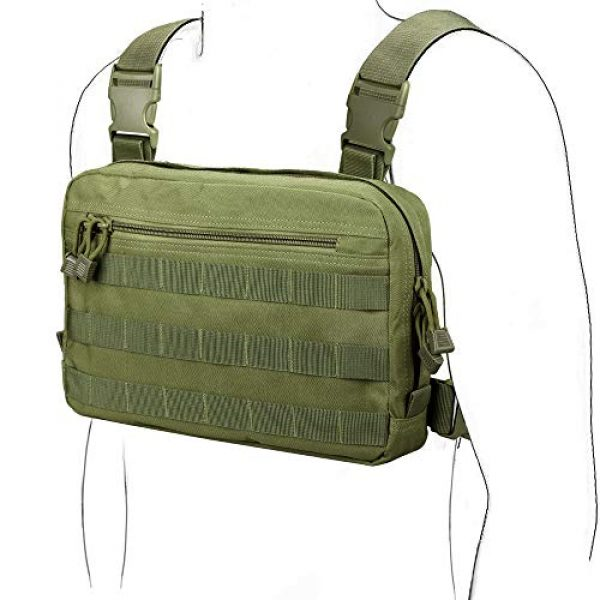 WYNEX Tactical Backpack 1 WYNEX Tactical Chest Rig Bag, Recon Kit Bags Combat EDC Front Pouch for Wargame