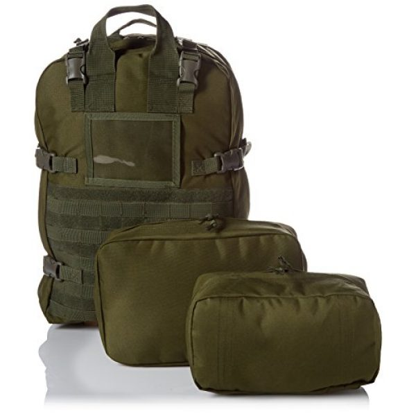 Stomp Medical Kit Tactical Backpack 5 Stomp Medical Kit Fully Stocked First Aid Backpack, OD Green