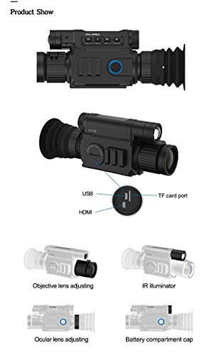 DJym Rifle Scope 4 DJym Infrared Night Vision, Thermal Imaging Night Vision Digital Video Patrol Hunting