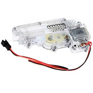 Generic Airsoft CYMA Mini Gearbox 1 Airsoft Spare Parts CYMA Transparent Mini Full Gearbox with Motor for Uzi Series AEG