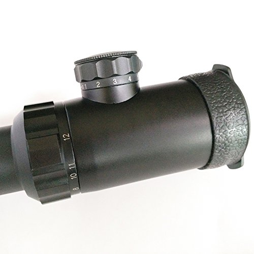 SECOZOOM Rifle Scope 3 1-12x30mm Mil Dot Shooting Scopes 12x Zoom Optical Sight Hunting for Strong Fireguns, Shoc-proofed