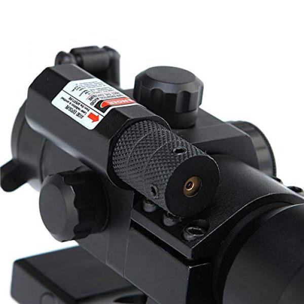 DJym Rifle Scope 5 DJym HD Blue Film Without Magnification, Inner Red Dot Sight with Red Professional Shockproof Waterproof Anti-Fog Sight
