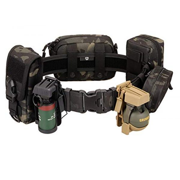 JFFCE Tactical Belt 6 JFFCE Tactical Military Patrol Belt with Side Release Buckle Heavy Duty Nylon Webbing for Outdoor Sports and Hunting