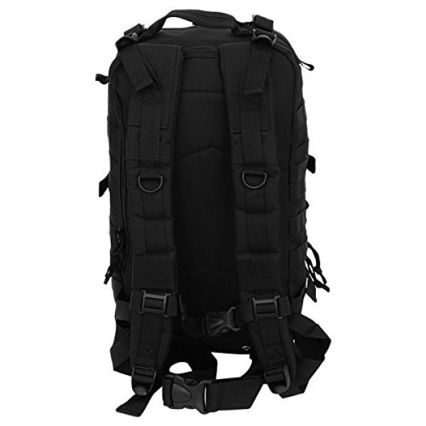NPUSA Tactical Backpack 4 Mens 18 Inch Molle Hydration Ready Tactical Gear Daypack Backpack + Key Ring Carabiner