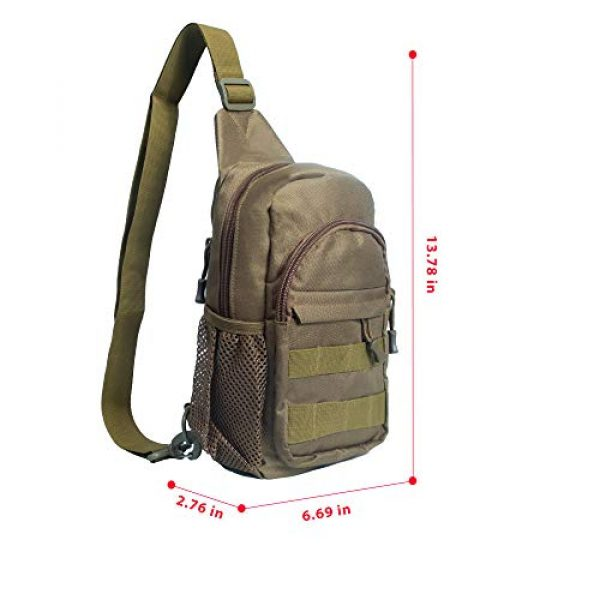 Saigain Tactical Backpack 2 Saigain Men's Tactica Small Sling Backpacks Chest Shoulder Bag Molle Casual with USB Charging for Outdoor Hiking Camping