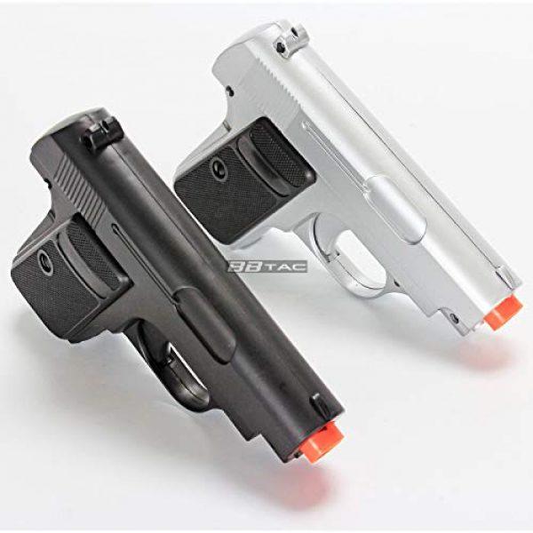 BBTac Airsoft Pistol 4 bbtac 618 110 fps spring concealable airsoft gun with storage case, black/silver(Airsoft Gun)