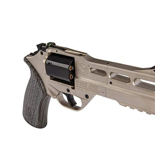 Lancer Tactical Air Pistol 5 Lancer Tactical Limited Edition Airgun Chiappa Rhino 50Ds CO2 Revolver Silver .177 Caliber