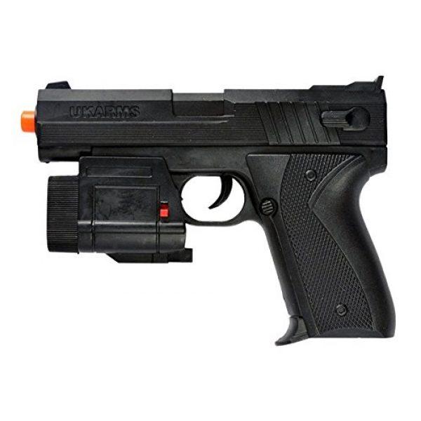 UKARMS Airsoft Pistol 1 UKARMS 666AF Spring Pistol w/Tactical Flashlight Black Finish FPS 120