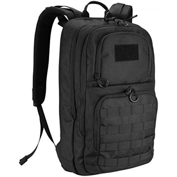 """ProCase Tactical Backpack 1 ProCase Tactical Outdoor Backpack 30L with Molle Laptop Compartment Back Panel, EDC Military Outdoors Daypack Rucksacks for Men Women Travel Hiking Riding Hunting Trekking """"Black, 1000D Nylon"""