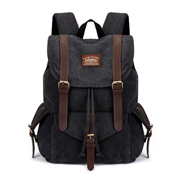 KAUKKO Tactical Backpack 1 Vintage Canvas Backpack Kaukko Outdoor Travel Hiking Rucksack School Bookbags