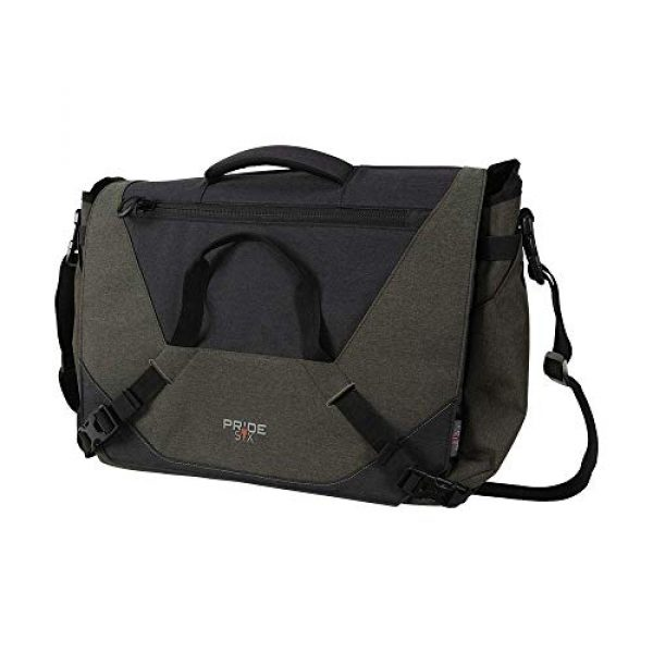 Allen Company Tactical Backpack 4 Allen Company Pride6 Base Tactical Messenger Bag, Courier Bag, Shoulder Bag, with Laptop and Conceal Carry Pocket, Internal Pockets, Tightening System, Green/Black