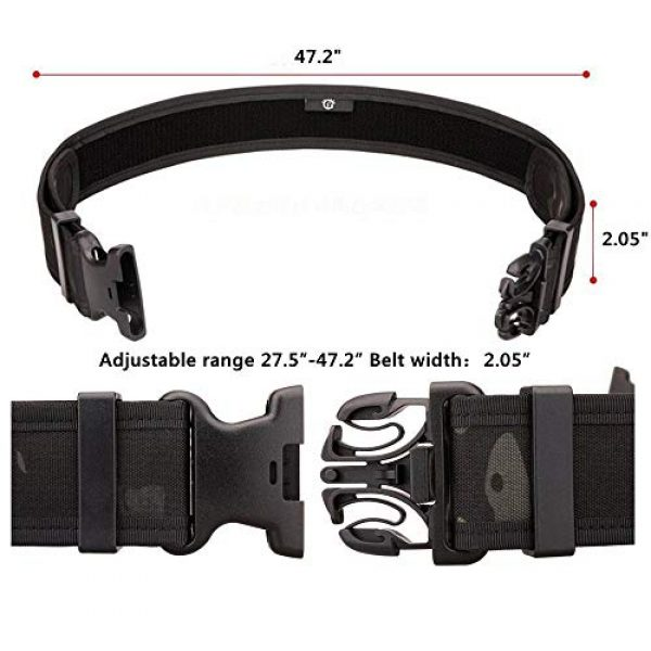 JFFCE Tactical Belt 3 JFFCE Tactical Military Patrol Belt with Side Release Buckle Heavy Duty Nylon Webbing for Outdoor Sports and Hunting