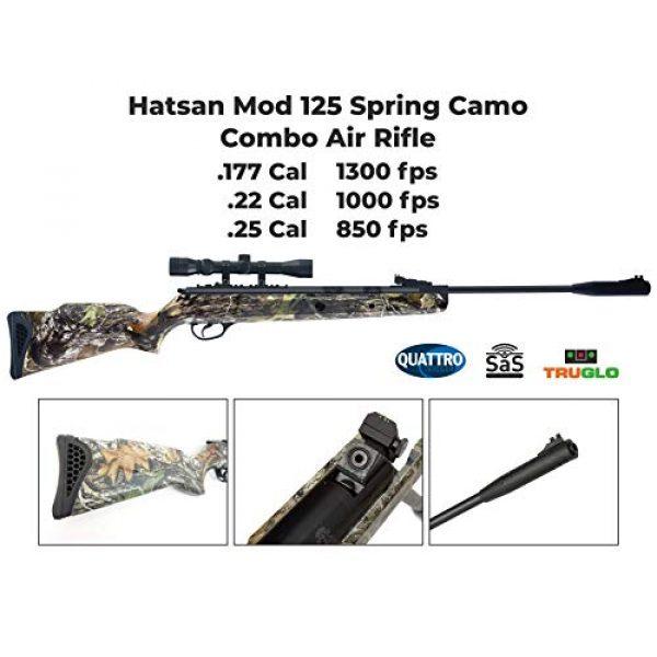 Wearable4U Air Rifle 4 Hatsan Mod 125 Spring Camo Combo Air Rifle with Wearable4U Paper Targets and Lead Pellets Bundle