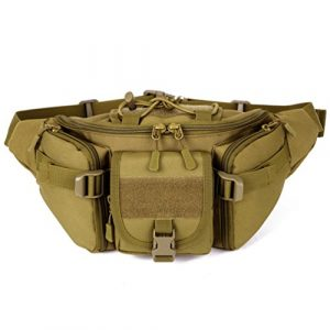 Unistrengh Tactical Pouch 1 UNISTRENGH Tactical Waist Pack Military Fanny Belt Pouch Waterproof Bum Bag for Outdoor Climbing Fishing Running Hunting