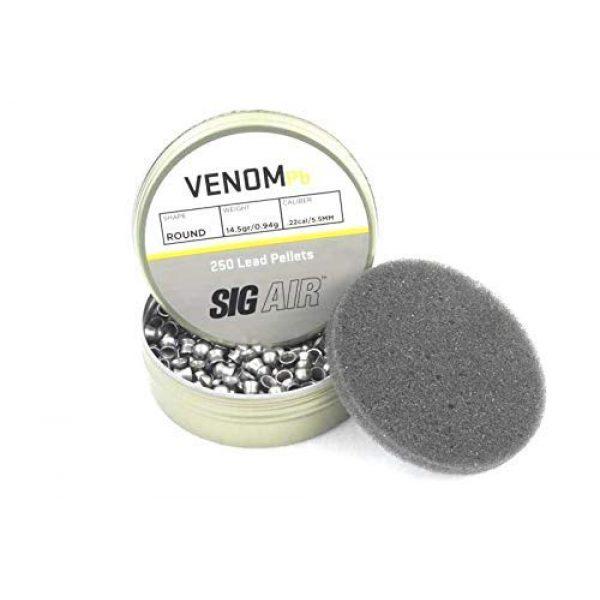Venus Air Gun Accessory 4 Sig Venom Lead Pellet .22 Cal 14.5gr 2x250ct and Virtus Airrifle Combo Kit .22cal 30rd 3 Extra Belts Bundle (for Virtus .22 Cal Only) | NOT for MCX/MPX .177