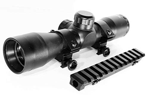 TRINITY Rifle Scope 3 TRINITY Hunting Scope and Mount for Ruger Mini 14 Mini 30 Tactical Optics Aluminum Black Picatinny Weaver Base Mount Adapter