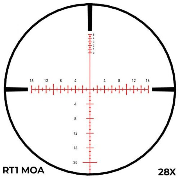 Revic Rifle Scope 5 Revic PMR 428 4.5-28x56 Smart Riflescope, 34 inch Tube, MOA RT1 Reticle, Gray, Left Handed