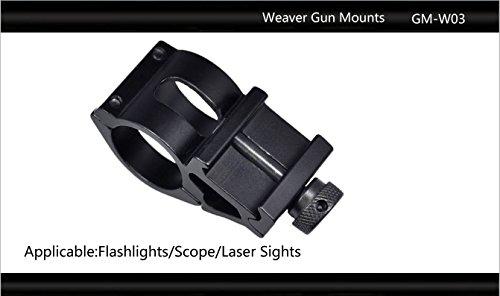 "Tactical Scorpion Gear Rifle Scope 3 Tactical Scorpion Gear TSG-GMW03 Cantilever Weaver Scope Flashlight Mount 25.4mm 1""- Black"