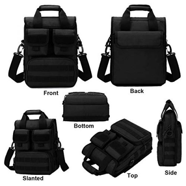BraveHawk OUTDOORS Tactical Backpack 2 BraveHawk OUTDOORS Tactical Briefcase Messenger Bag, 800D Military Nylon Oxford Laptop Crossbody Shoulder Bag Handbag Daypack