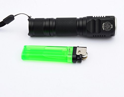 Acid Tactical Flashlight 7 Acid Tactical Compact LED Rifle Shotgun Flashlight 800 Lumens with Picatinny Mount, Battery, Pressure Switch kit