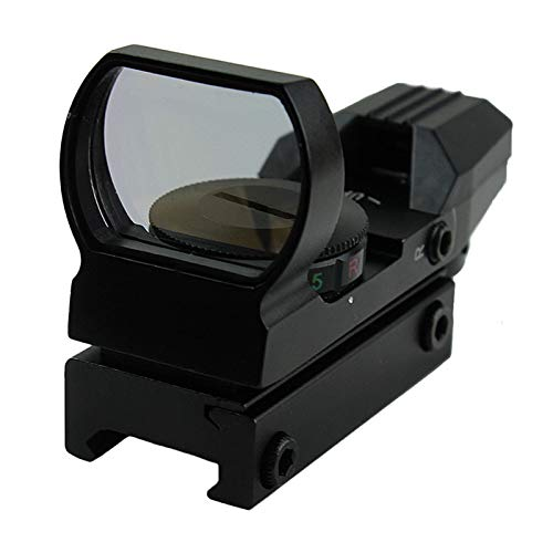Without Rifle Scope 2 Toy Gun Sight Red dot Sight Magnification Red and Green Dot 4 Reflex Sight (Color : Black)