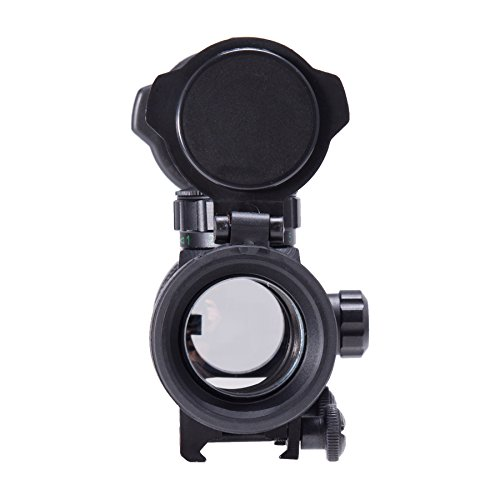 Pinty Rifle Scope 6 Pinty 30mm Reflex Red Green Dot Sight Scope 0.5 MOA with Flip Up Lens Cover Cap