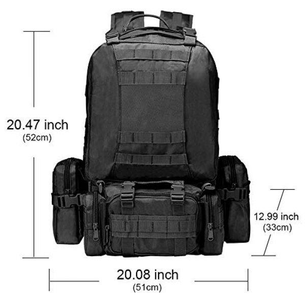 CVLIFE Tactical Backpack 2 CVLIFE Military Tactical Backpack Army Assault Pack Built-up Molle Bag Rucksack