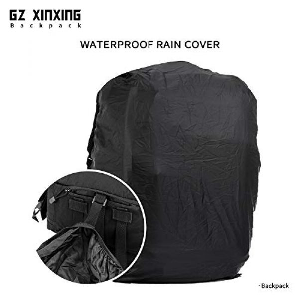 GZ XINXING Tactical Backpack 6 GZ XINXING 45L Large Military Tactical Backpack Army 3 Day Assault Pack Molle Bag Backpacks