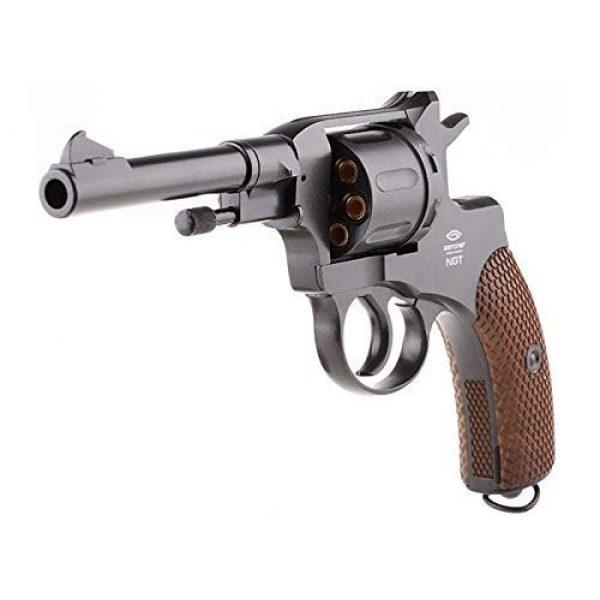 Nagant Air Pistol 3 Nagant Gletcher NGT F CO2 BB Revolver, Black air pistol