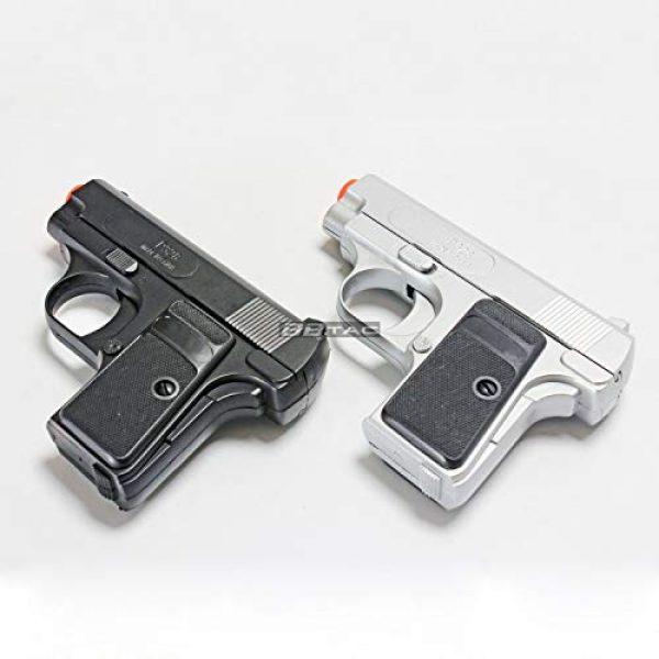 BBTac Airsoft Pistol 1 bbtac 618 110 fps spring concealable airsoft gun with storage case, black/silver(Airsoft Gun)