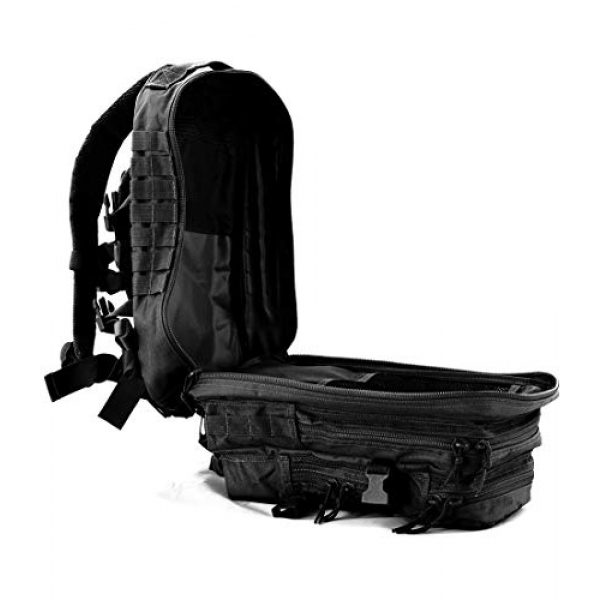 Tactical Pro Supply Tactical Backpack 3 Tactical Pro Supply Kevlar Ranger Back Pack (Black)