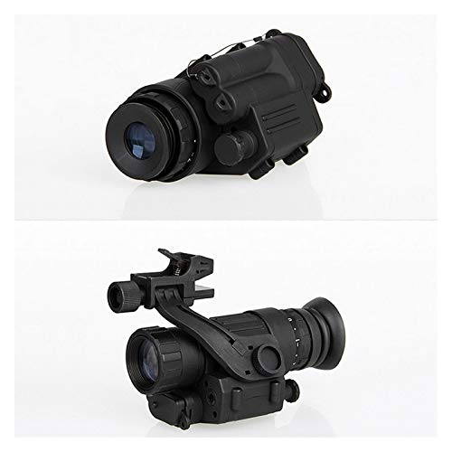 Without Rifle Scope 4 Toy Gun Sight Red dot Sight Magnification Hunting Night Vision Goggles New PVS-14 Digital Night Vision Goggles Shooting Telescope CL27-0008 (Color : Black)