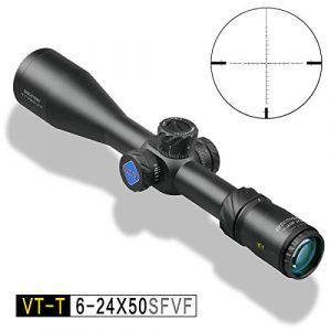ApexHorizon Rifle Scope 1 ApexHorizon VT-T 6-24X50 SFVF Rifle Scope,Sniper Hunting Optics Crosshair Gun Scopes with Phone Adapter