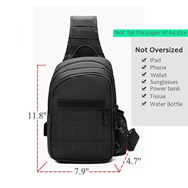 TEGOOL Tactical Backpack 2 Tactical Sling Bag,Chest Shoulder Small Backpack,Casual Satchel Day Pack