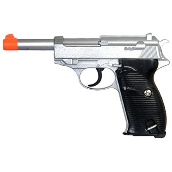 UKARMS Airsoft Pistol 1 UKARMS 250 FPS Heavy Metal Walter P38 Spring Powered Airsoft Pistol - Silver
