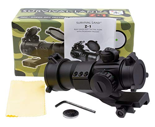 Survival Land Rifle Scope 2 Survival Land Z-1 Red & Green Dot Sight/Tactical Reflex Micro-dot Scope