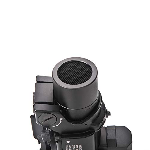 Luger Rifle Scope 4 Luger Tactical 1x-4x Magnification Optic Fixed Dual Purpose Scope Combo with Mini Red Dot Sight Wide Angle for Rifle Hunting Shooting