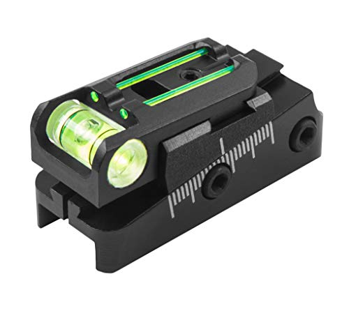 TRUGLO Rifle Scope 3 TRUGLO TruPoint Xtreme Universal Shotgun Sights with Luminescent Alignment Level and Elevation Ramp for Ribbed Shotgun