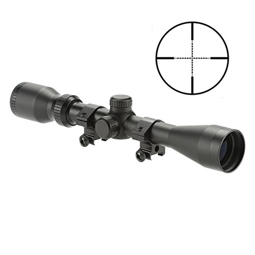 Pinty Rifle Scope 2 Pinty Pro 3-9X40 Mil-dot Tactical Rifle Scope Optical Scope for Hunting, Range Shooting, Defense with Aircraft-Grade Aluminum Alloy Tube Nitrogen Purged O-Ring Sealed for Waterproof and Fogproof