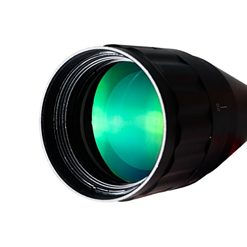 Pinty Rifle Scope 6 Pinty 4-16X40 Rifle Scope AO Red Green Blue Illuminated Mil Dot with Flip-Open Covers, Sunshade Tube