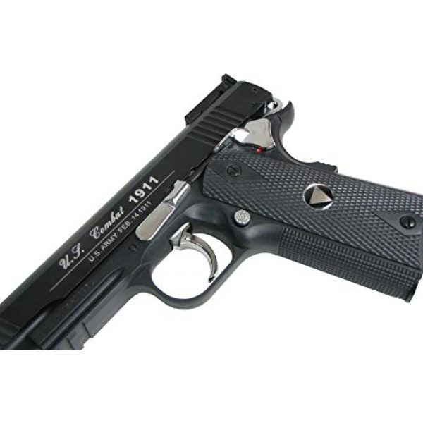 WinGun Airsoft Pistol 7 WinGun Special Combat Pistol 1911 CO2 Blowback Airsoft Gun Black with Black Grip
