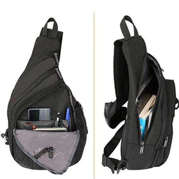 Vanlison Tactical Backpack 3 Vanlison Large Sling Bag Chest Shoulder Bag Purse Backpack Crossbody Bags for Men Women