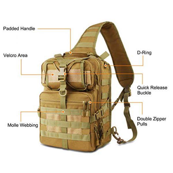 FUNANASUN Tactical Backpack 2 FUNANASUN Tactical Sling Backpack Bag Military Molle Assault Pack Rucksack Daypack for Outdoors Camping Hiking Hunting