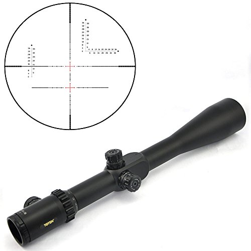 TOTEN Rifle Scope 7 TOTEN Rifle Scope 10-40X56T Gun Scope with 11 mm Dovetail Mounting Rings for Viewing