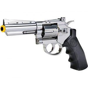 SRC Airsoft Pistol 1 SRC 4 INCH Barrel Titan CO2 Gas Airsoft GBB Cowboy Revolver (Silver)